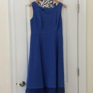 Talbots blue linen dress